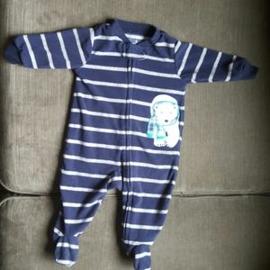 Carter's Navy Blue 3months Polar Bear Pajama